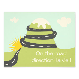 """Faire-part de naissance """"on the road"""" simple"""