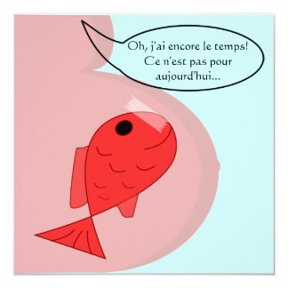 Faire-part de naissance poisson d'avril fille