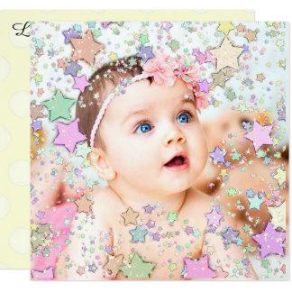 Faire-part de naissance scintillant de bébé