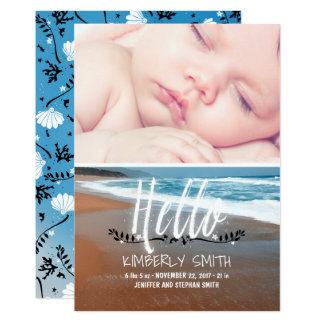 Faire-part de photo de naissance de bébé de plage