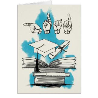 Faire-part d'obtention du diplôme d'ASL Carte De Vœux