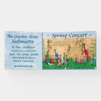 Faire-part ficelé de concert de jardin banderoles