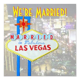 Faire-part Las Vegas de mariage épousant la photo