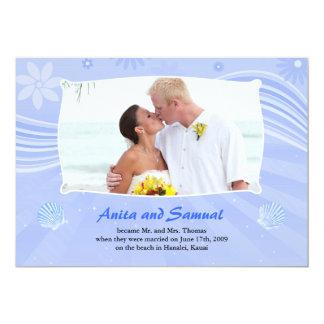 Faire-part plat de carte de photo de mariage de