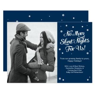 Carte Faire-part silencieux de Noël de grossesse de