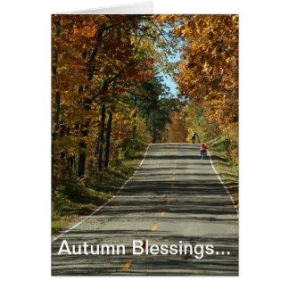 Faire un tour un jour d'automne carte