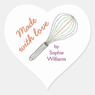 Fait avec des autocollants de cuisson d'amour