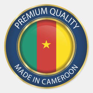 Fait dans le drapeau du Cameroun, autocollant du