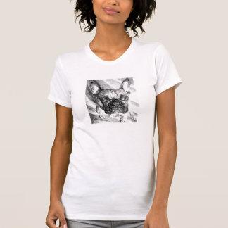 Fait dans le T-shirt mou de bouledogue français de