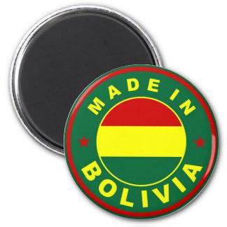 fait dans le timbre d'étiquette de drapeau de pays magnet rond 8 cm