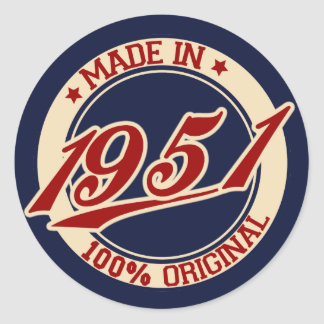 Fait en 1951 sticker rond