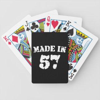 Fait en 1957 cartes à jouer