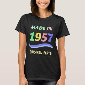 Fait en 1957, conception colorée des textes t-shirt