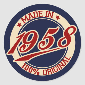 Fait en 1958 sticker rond