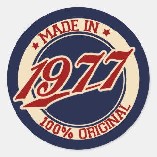 Fait en 1977 sticker rond