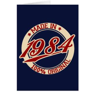 Fait en 1984 carte de vœux