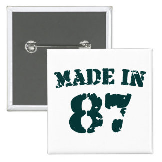Fait en 1987 badge carré 5 cm