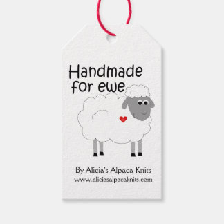 Fait main pour l'étiquette du fabriquant de brebis étiquettes-cadeau