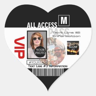 Faites à votre propre passage de VIP 8 manières de Sticker Cœur
