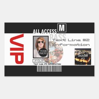 Faites à votre propre passage de VIP 8 manières de Sticker Rectangulaire
