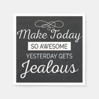 Faites aujourd'hui la citation de motivation serviettes en papier