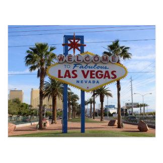 Faites bon accueil à Las Vegas à la carte postale