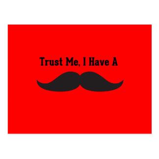 Faites confiance que je j'a une moustache carte postale