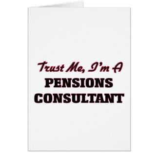 Faites confiance que je je suis un consultant en carte de vœux