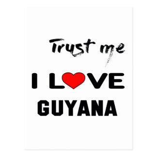 Faites- confiancemoi amour Guyane d'I Carte Postale