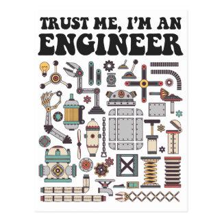 Faites- confiancemoi, je suis un ingénieur cartes postales