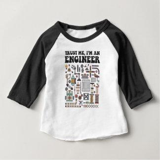 Faites- confiancemoi, je suis un ingénieur t-shirt pour bébé