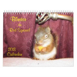 Faites du fracas le calendrier de l'écureuil rouge