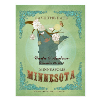 Faites gagner la date - carte du Minnesota avec de