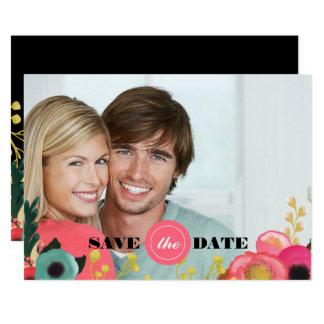 Faites gagner la date. Cartes photos floraux
