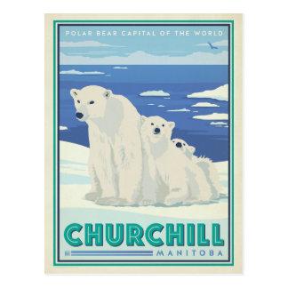 Faites gagner la date | Churchill, Manitoba Carte Postale
