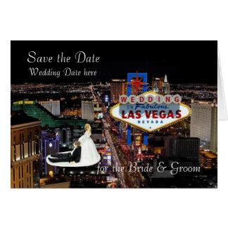 Faites gagner la date pour le mariage de jeune carte de vœux