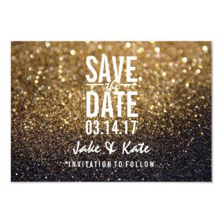 Faites gagner la date - un Lit Nite d'or Carton D'invitation 8,89 Cm X 12,70 Cm