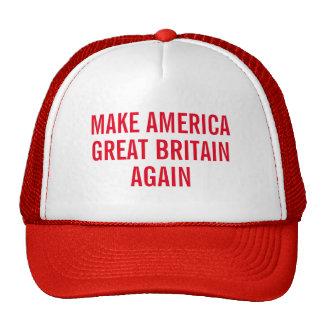 Faites l'Amérique Grande-Bretagne encore Casquettes De Camionneur