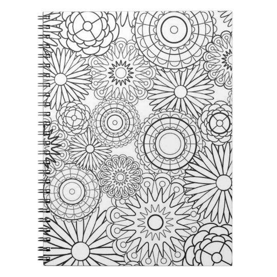 Faites-le vous-même page de coloration carnet à spirale
