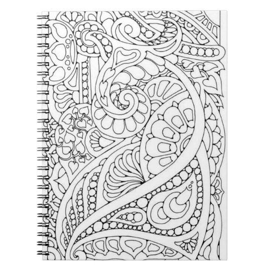Faites-le vous-même page de coloration carnets à spirale