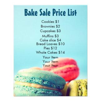 Faites les biscuits colorés de Macarons de listes Prospectus 11,4 Cm X 14,2 Cm