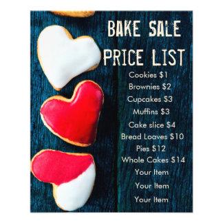 Faites les biscuits foncés de coeur d'arrière - prospectus 11,4 cm x 14,2 cm