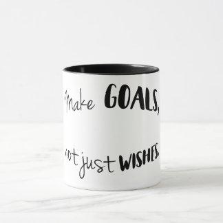 Faites les buts, pas simplement tasse de souhaits