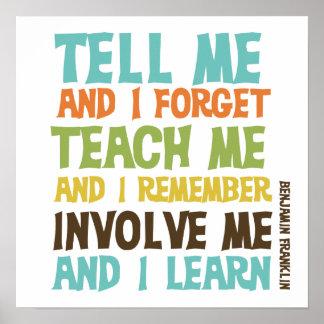 Faites- participermoi citation inspirée poster