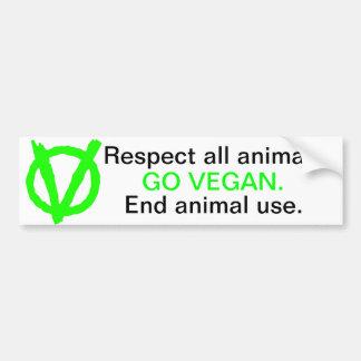 Faites partie de la révolution végétalienne ! autocollant de voiture