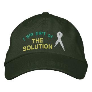 Faites partie de la solution au casquette de casquette de baseball brodée