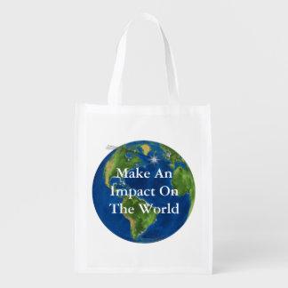 Faites un impact sac réutilisable