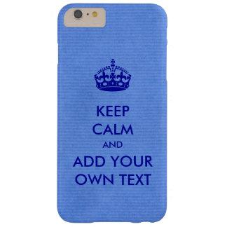 Faites vos propres maintenir le produit calme bleu coque iPhone 6 plus barely there