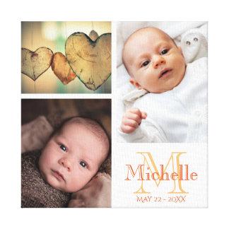 Faites votre propre collage de photo de bébé toiles