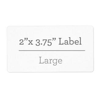 Faites votre propre étiquette 8,5 x 11 étiquettes d'expédition